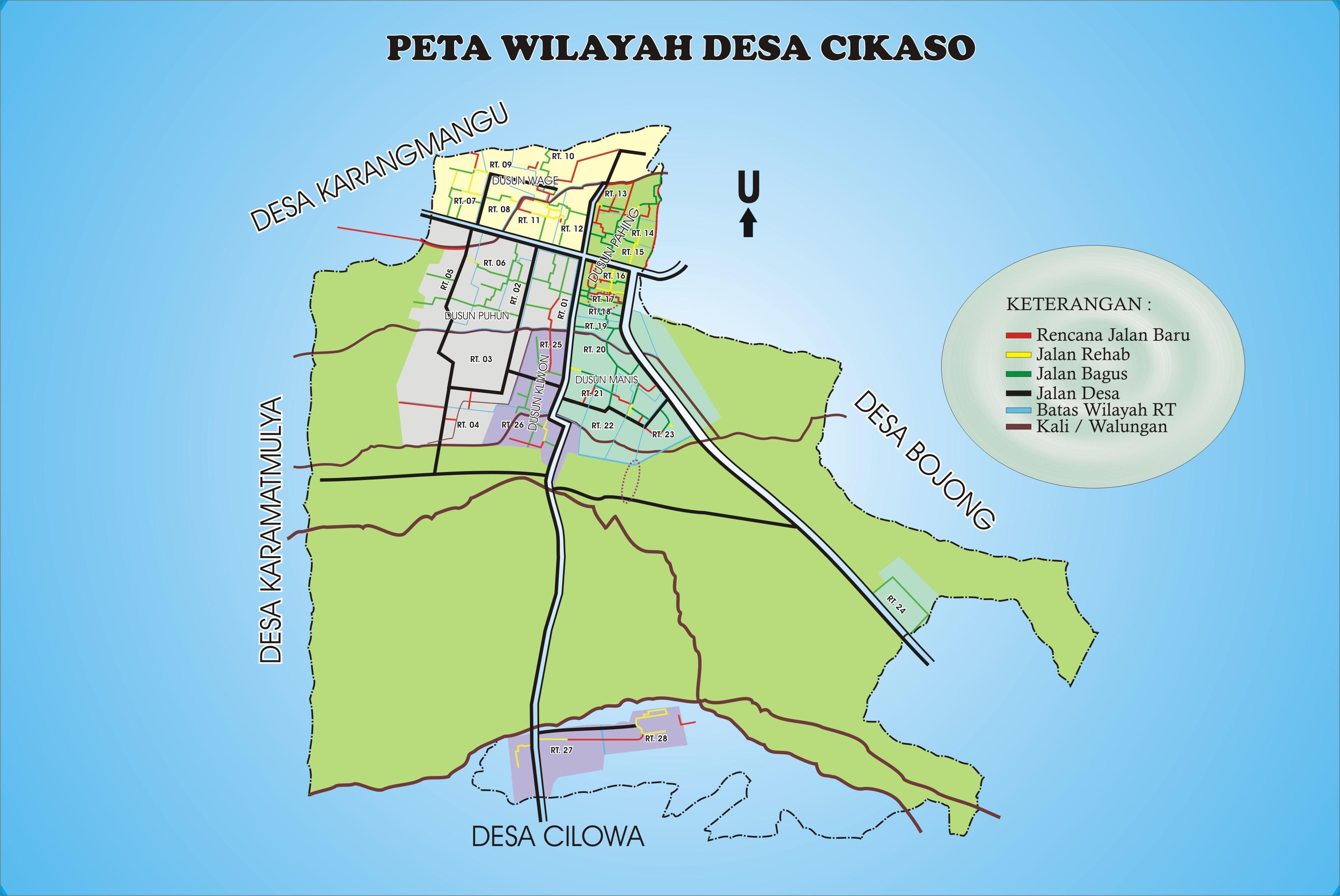 Peta Desa | Desa Cikaso, Kecamatan Kramatmulya, Kabupaten ...
